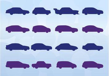 Cars Silhouettes Set - бесплатный vector #161325