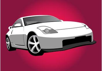 Nissan Car Illustration - Free vector #161375