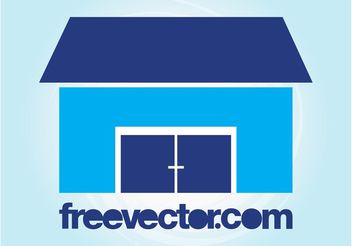 Stylized House Icon - Free vector #161405