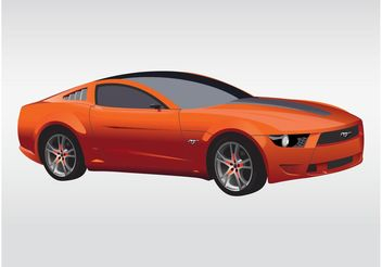 Ford Mustang Vector - Free vector #161505