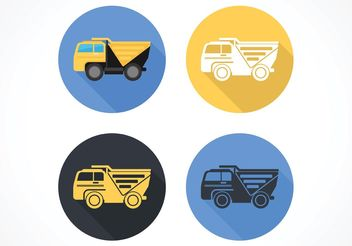 Free Flat Dump Truck Vector Icon - Kostenloses vector #161665