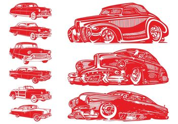 Vintage Cars Set - vector gratuit #161675