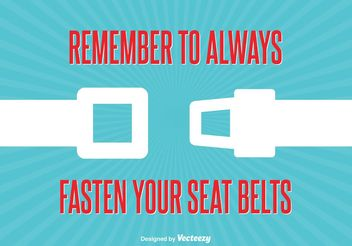 Seat Belt Sign Illustration - Free vector #161685