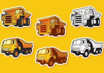 Dump Truck Vectors Pack - бесплатный vector #161705