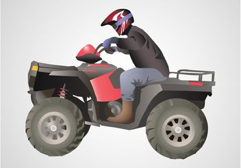 Off Road Biker - vector gratuit #161755