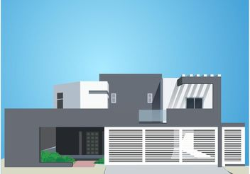 Modern House - Free vector #161865