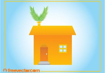 Eco House Image - Free vector #161915