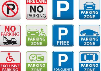 Parking Signal Vectors - vector gratuit #161945