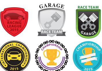 Racing Emblems - vector gratuit #162005