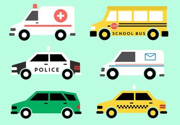 Public Vehicle Vectors - vector gratuit #162075