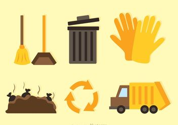 Recycle Flat Icons - vector gratuit #162205