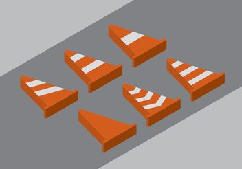 Orange Cone Vectors - vector gratuit(e) #162225