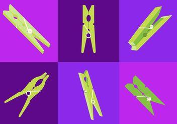 Clothespin Vectors - Free vector #162255