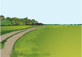 Country Road Vector - Kostenloses vector #162295