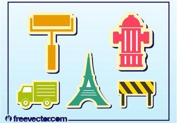Cool Sticker Vectors - Free vector #162315
