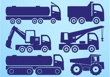 Heavy Vehicles Graphics - Free vector #162325
