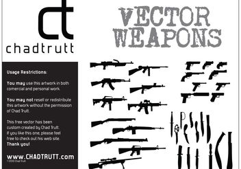 Weapons - Free vector #162425