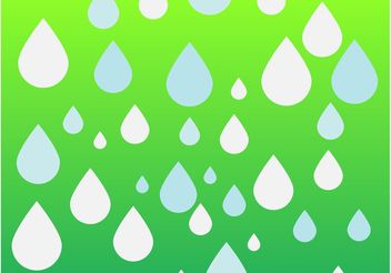 Water Drops Illustration - vector gratuit #162585