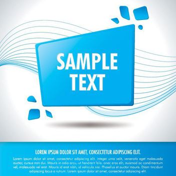 Blue Rectangle Message Business Background - vector #162615 gratis