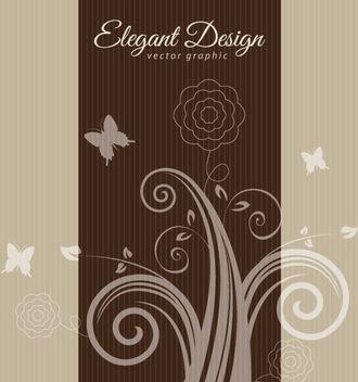 Floral Swirls Elegant Vintage Card - Free vector #162655