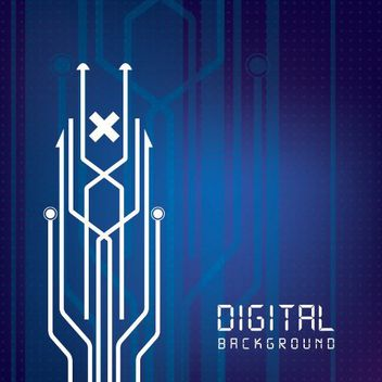 Digital Circuit Lines Background - vector #162665 gratis
