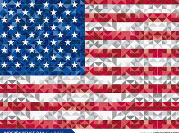 Polygonal USA flag - vector gratuit #162755
