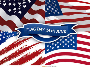 Flag Day - 14th June - Free vector #162785