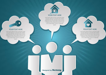Creative Real Estate Infographic Clouds - Free vector #162795