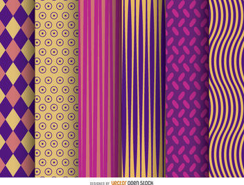 6 modern wallpaper patterns - vector gratuit #162815