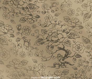 Floral vintage pattern - vector gratuit #162835