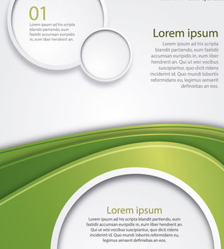 Green wave circles background - Free vector #162945