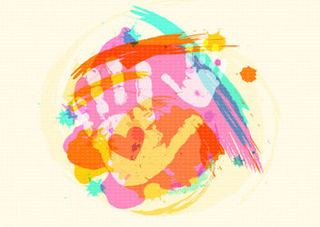 Colorful Child Handprints Watercolor Brushes - vector gratuit(e) #163085