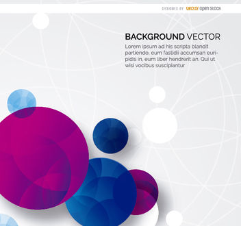 Abstract circles background - vector #163105 gratis