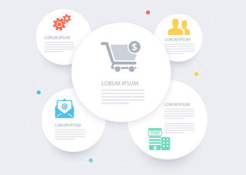 White Circles Business Infographic - Free vector #163115