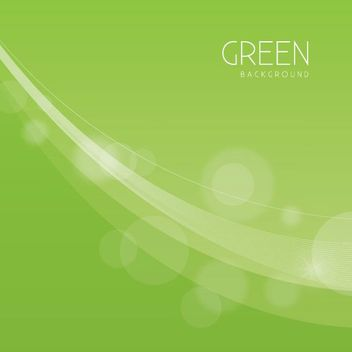 Soft Curves Green Background - vector #163125 gratis