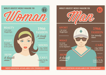 Retro Themed Magazine Covers - vector gratuit #163155