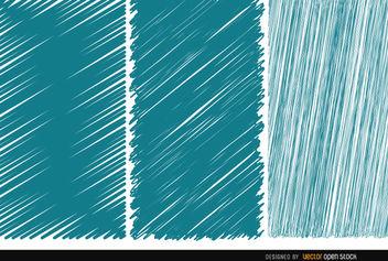 3 Scribble blue textures - Kostenloses vector #163205