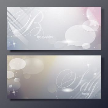 Shiny Bubbles Banner Templates - Free vector #163245
