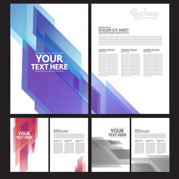 Abstract Both Sided Brochure Templates - Free vector #163285