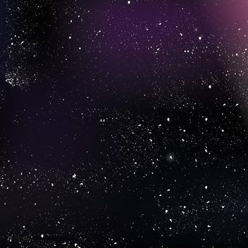 Outer Space Glowing Night Sky - Kostenloses vector #163425