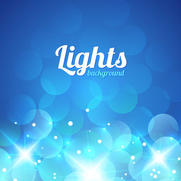 Shiny Blue Bokeh Background - Free vector #163435
