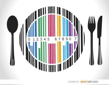 Codebar dish cutlery - Free vector #163495