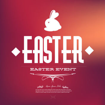 Vintage Easter Card with Typography - vector gratuit #163545