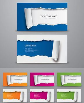 Torn Background Business Cards - vector gratuit #163575