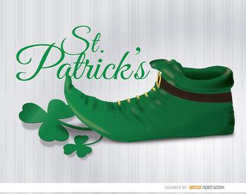 St. Patrick's leprechaun boot wallpaper - Free vector #163625