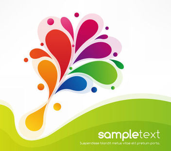 Colorful Swirls Green Waves Background - Free vector #163655