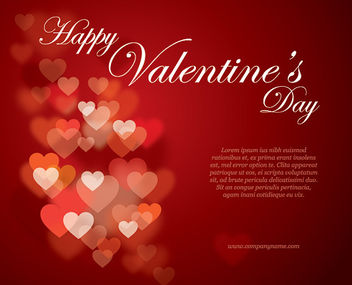 Stylish Valentine Gift Card Template - vector gratuit #163905