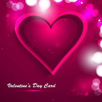 Red Pink Abstract Creative Valentine Background - Free vector #163965