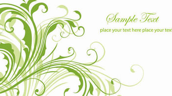 Green Floral Swirls Banner Template - Free vector #163995