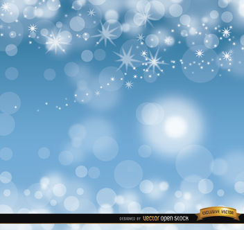 Sky blue glitters background - vector gratuit #164005